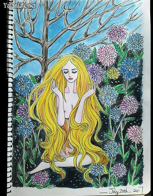Taipei Life Art Illustration Fairy Watercolour Romanticism 台北生活 插画艺术 精灵仙女 水彩 浪漫主义 Yalan雅岚文艺博客