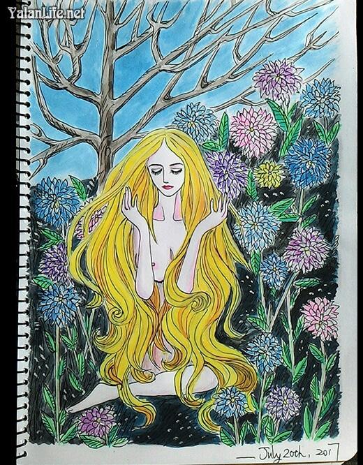 Taipei Life Art Illustration Fairy Watercolour Romanticism Yalan雅岚文艺博客